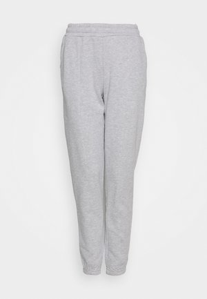 REGULAR FIT JOGGERS - Spodnie treningowe - mottled light grey