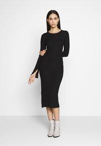 Even&Odd Tall - BASIC SHIFT DRESS - Shift dress - black - 1