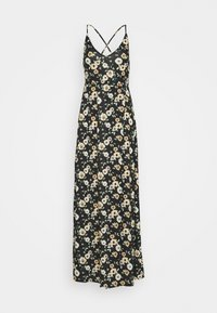 Even&Odd Tall - Vestido largo - black/yellow - 0