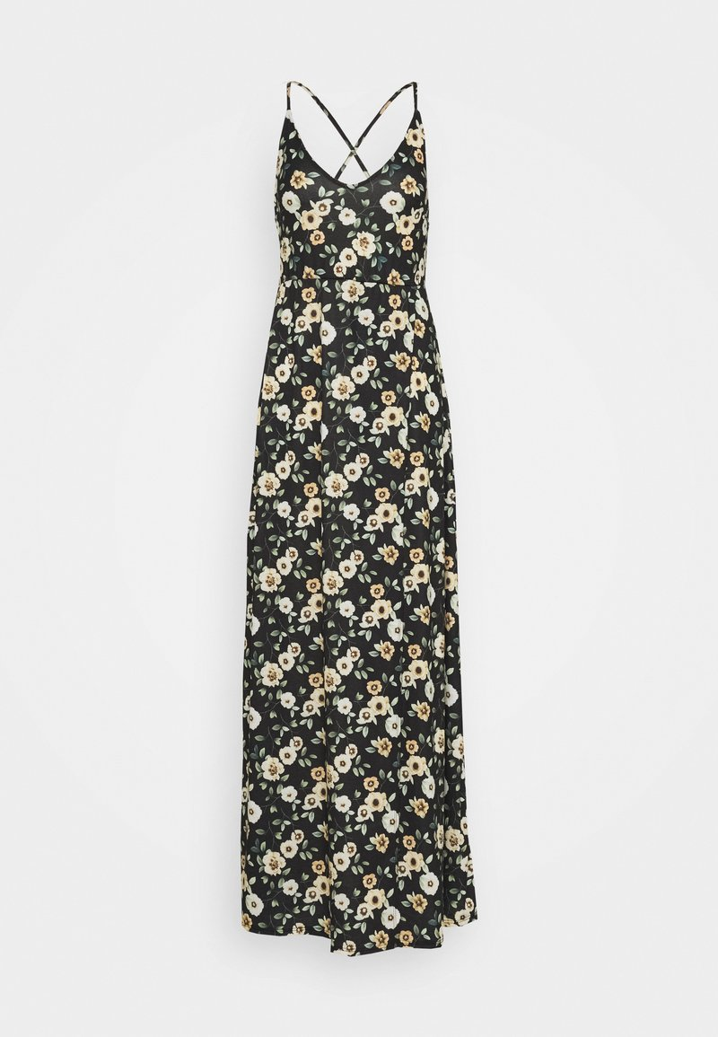 Even&Odd Tall - Vestido largo - black/yellow