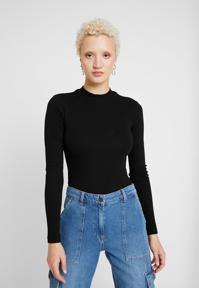 LONG SLEEVES BODYSUIT - Long sleeved top - black