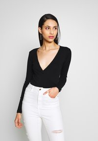 Even&Odd Tall - Long sleeved top - black - 0
