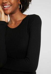 Even&Odd Tall - BASIC CREW NECK LONG SLEEVES - Top sdlouhým rukávem - black - 5