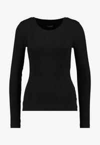 Even&Odd Tall - BASIC CREW NECK LONG SLEEVES - Top sdlouhým rukávem - black - 4