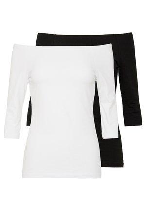 2 PACK  - Longsleeve - white/black