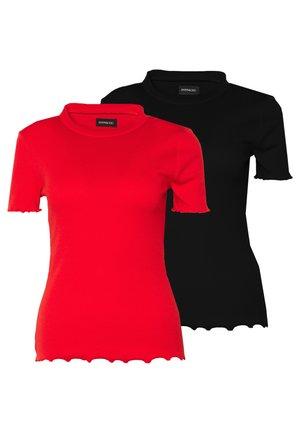 2 PACK - Camiseta básica - goji berry/black