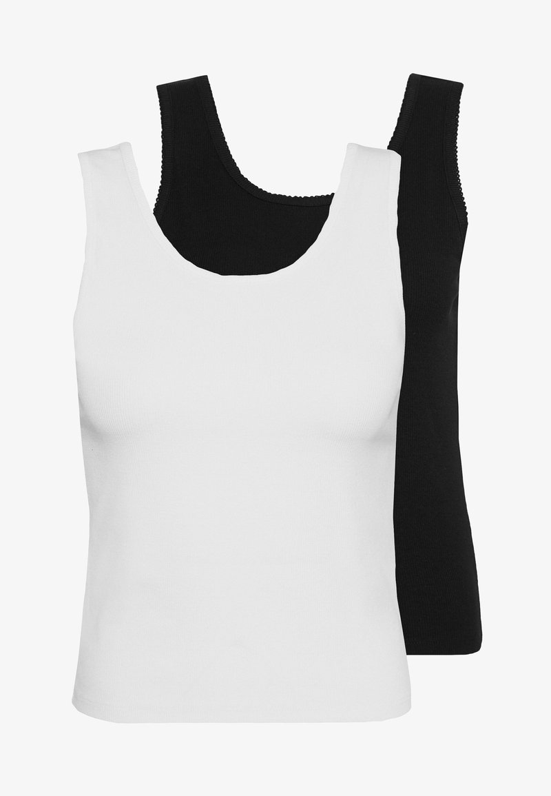 Even&Odd Tall - TANK  2PACK - Top - black/white