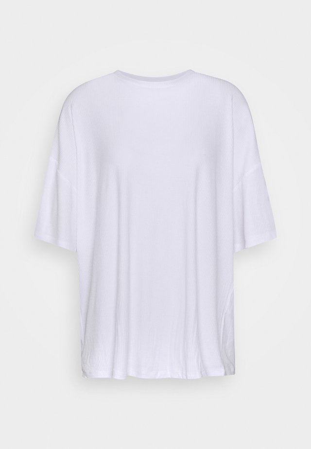 OVERSIZED SLOUCHY TEE - T-shirt basic - white