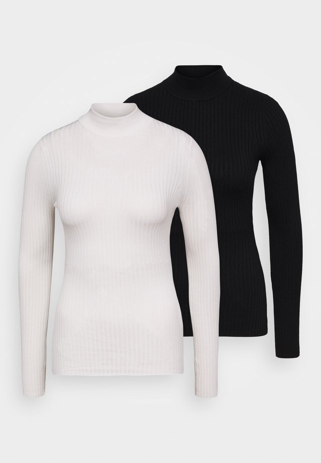 2 PACK - Sweter - black/white