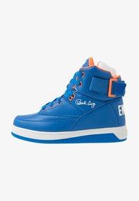 prince blue/vibrant orange/white