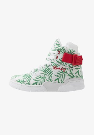 EWING 33HI FLORAL - High-top trainers - white/green/red