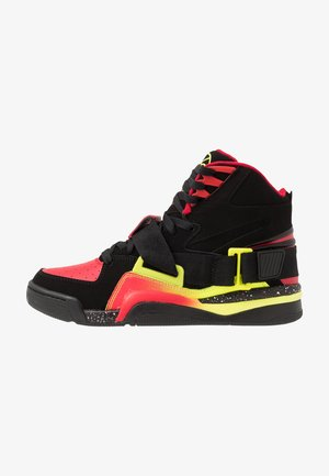 CONCEPT - High-top trainers - black/red/yellow