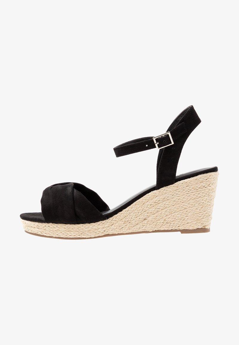 Evans - WIDE FIT HALLIE - Platform sandals - black