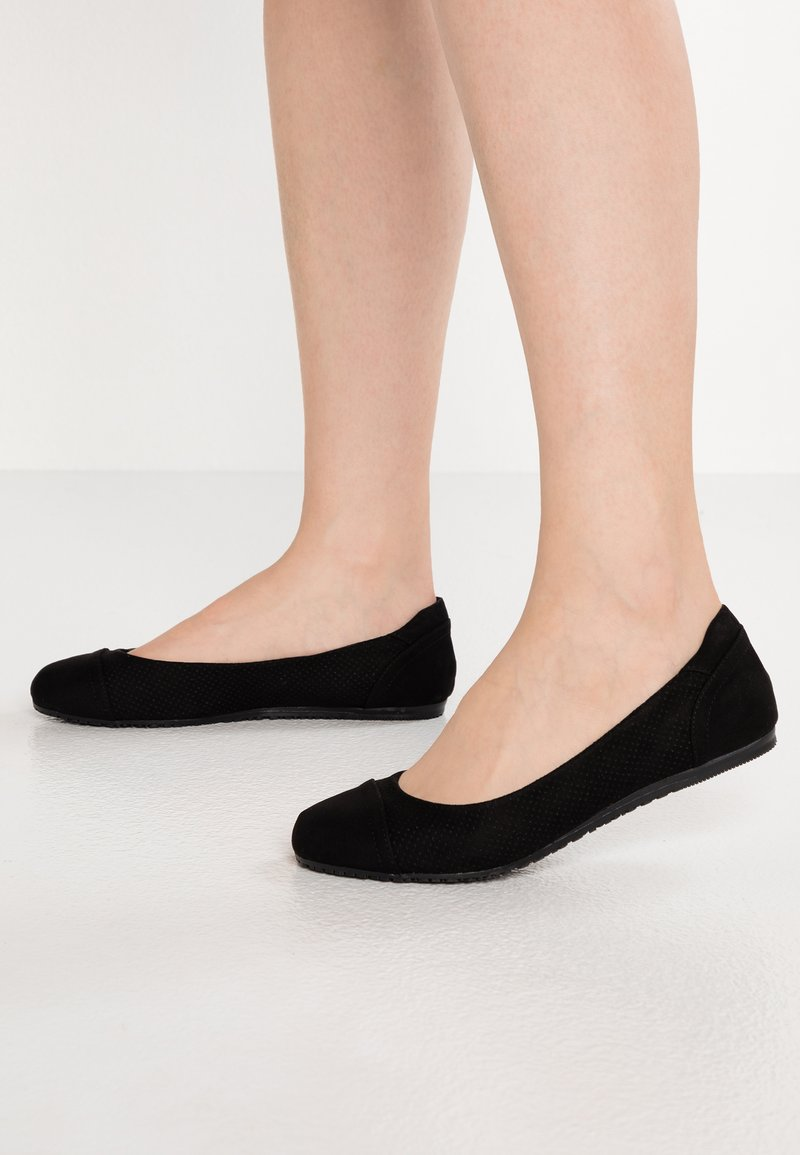 Evans - WIDE FIT - Ballerine - black