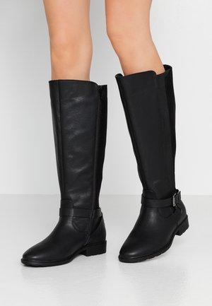 WIDE FIT LEORE LONG BOOT - Cowboy/Biker boots - black