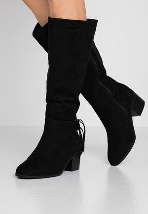 WIDE FIT LUCIA LONG BOOT - Laarzen - black
