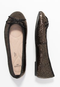 Evans - WIDE FIT RAYE SEQUIN - Baleríny - pewter - 3