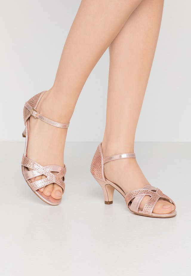 WIDE FIT HILLA RHINESTONE EMBELLISHED  - Sandals - nude