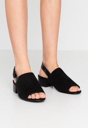 WIDE FIT HULA HIGH FRONT LOW BLOCK - Sandaler - black