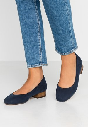 WIDE FIT BLOCK HEEL COURT SHOE - Escarpins - navy