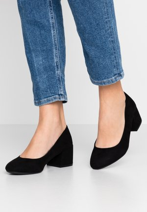 WIDE FIT FIRELLI BLOCK HEEL COURT - Avokkaat - black