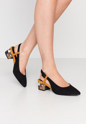 WIDE FIT FELICITY BLOCK HEEL POINT - Klassieke pumps - black