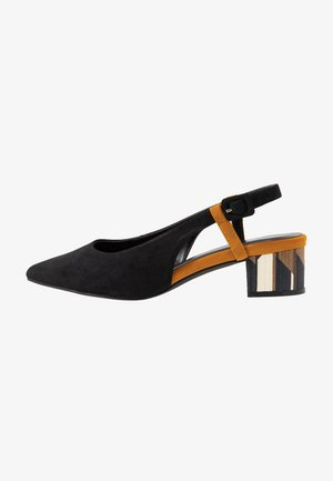 WIDE FIT FELICITY BLOCK HEEL POINT - Klassiske pumps - black