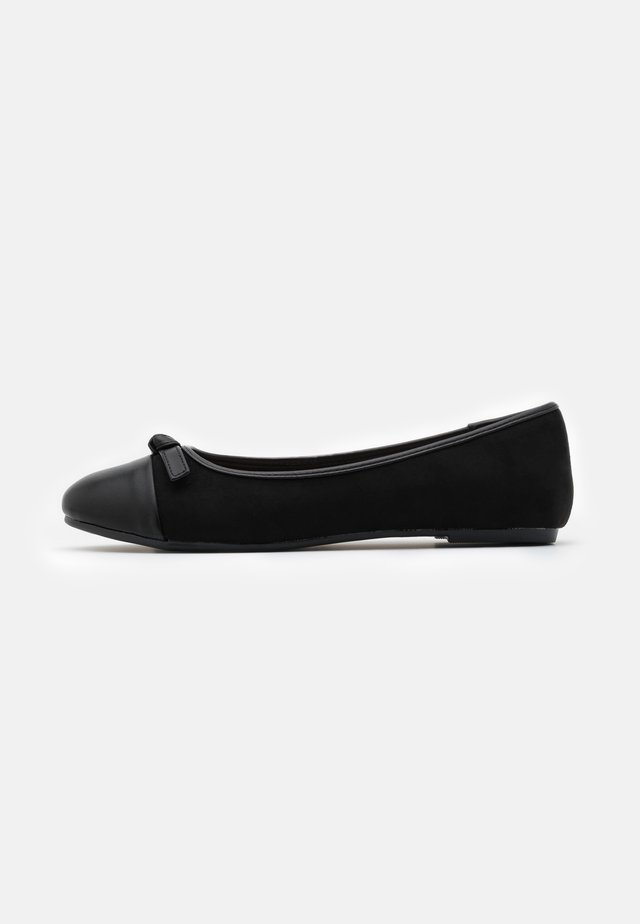 WIDE FIT TOE CAP - Baleriny - black