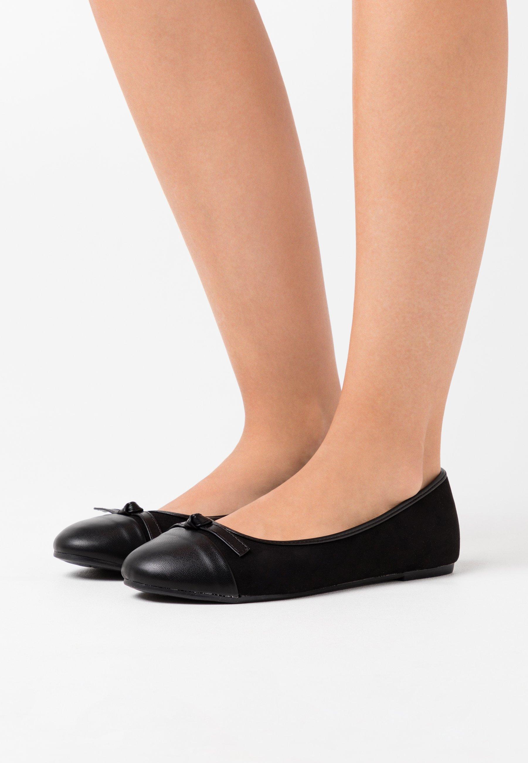 WIDE FIT TOE CAP Ballerinaskor black