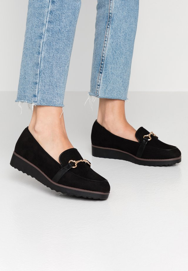 WIDE FIT REECE LOAFER - Slipper - black