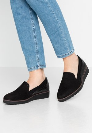 WIDE FIT ROSARIO - Slip-ons - black
