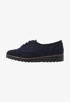 WIDE FIT LACE UP SHOE - Schnürer - navy