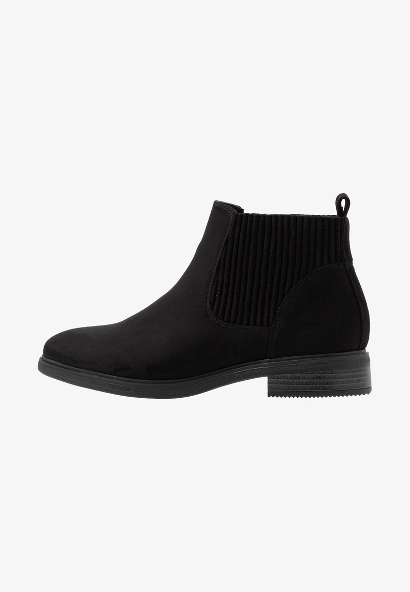Evans - WIDE FIT ELASTIC BOOT - Ankle boots - black