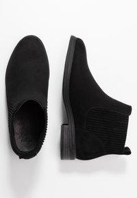 Evans - WIDE FIT ELASTIC BOOT - Ankelboots - black - 3