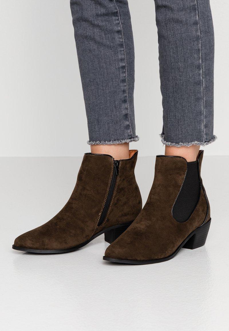 Evans - WIDE FIT ARIA CHELSEA BOOT - Støvletter - khaki
