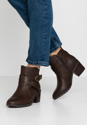 WIDE FIT AMOUR - Ankelboots - brown