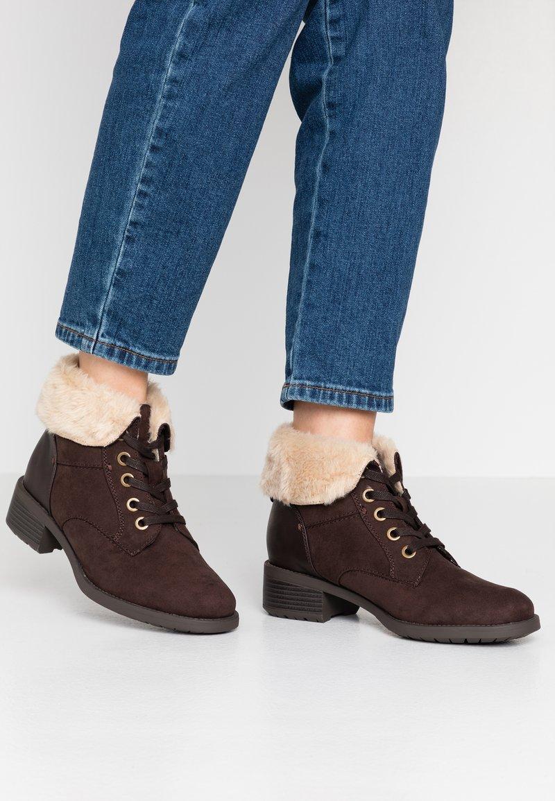 Evans - WIDE FIT ALTHEA - Ankelboots - brown