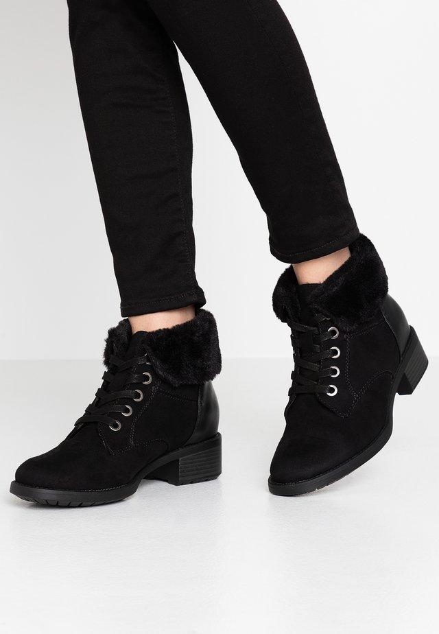 WIDE FIT ALTHEA - Korte laarzen - black