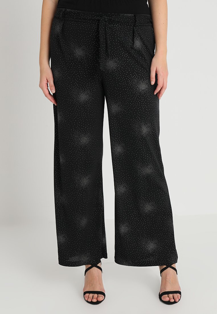 Evans - SPARKLE ITY TROUSER - Kalhoty - black/silver