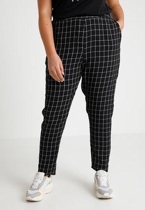 CHECK TAPERED - Kalhoty - black