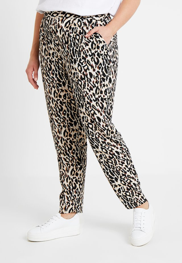 LEOPARD PRINT TAPERED TROUSER - Stoffhose - multi