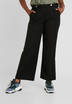 PICASSO WIDE LEG - Trousers - black
