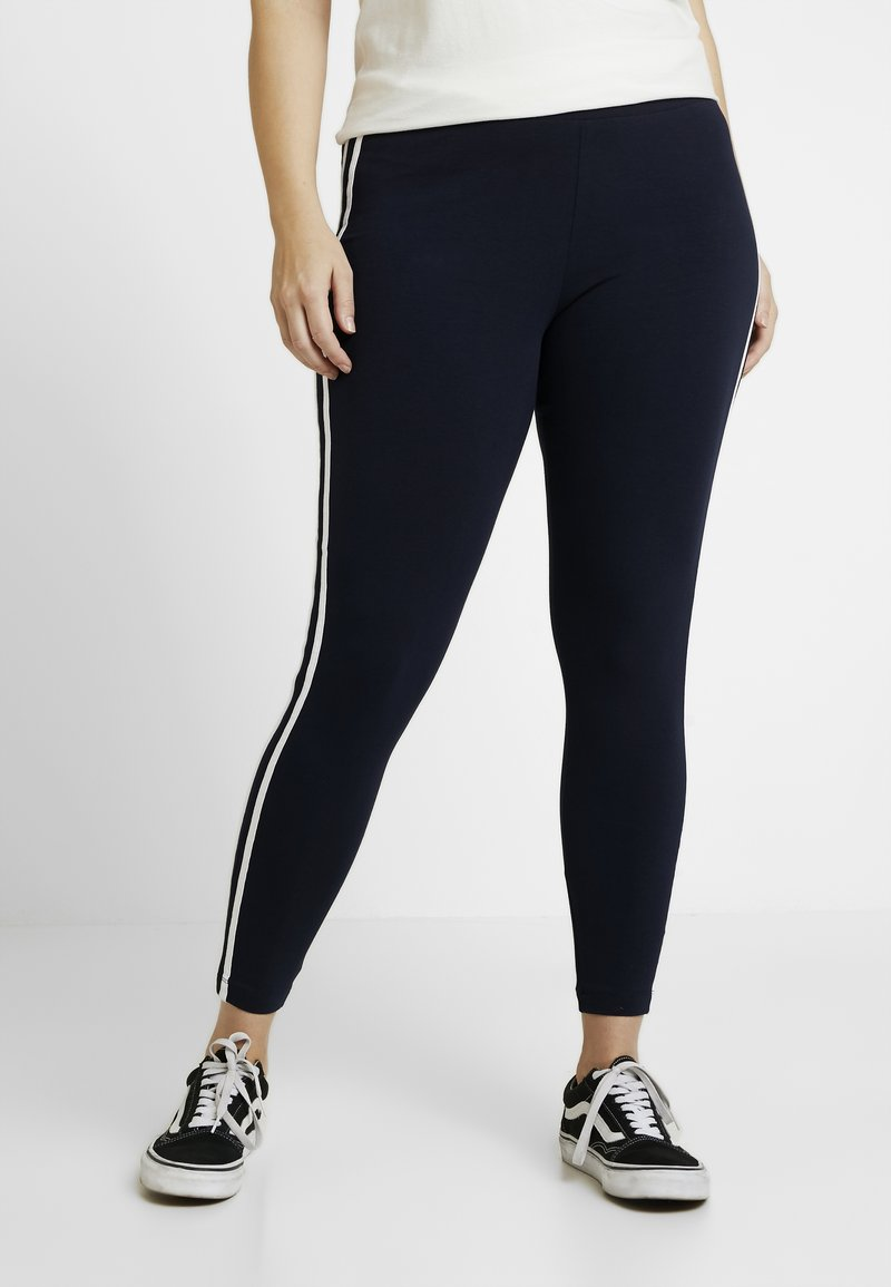 Evans - SIDE STRIPE - Leggings - navy
