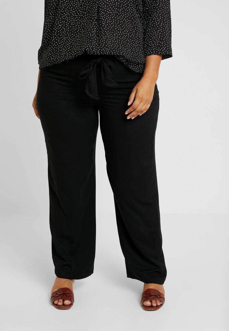 Evans - BELTED TROUSERS - Pantalones - black