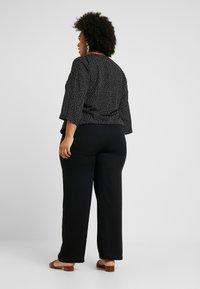 Evans - BELTED TROUSERS - Pantalones - black - 3