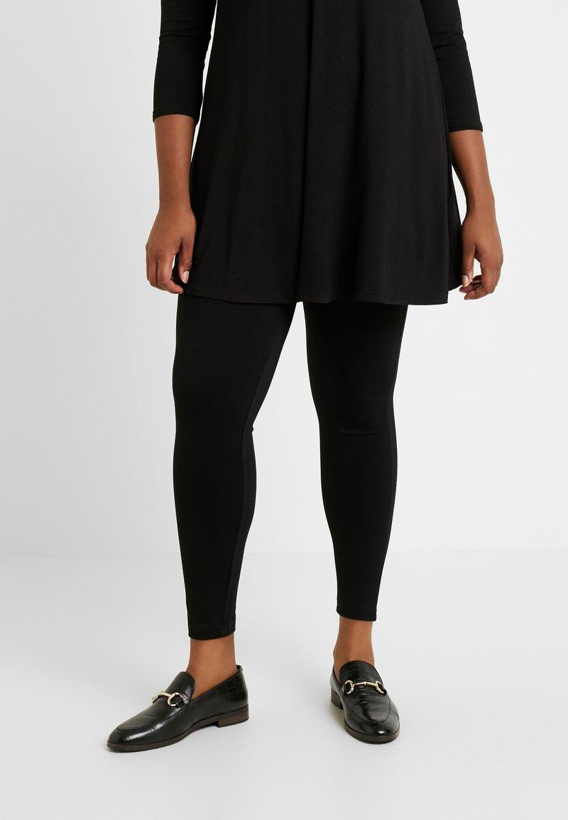 Evans - PONTE - Leggings - Trousers - black