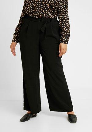 WIDELEG - Trousers - black