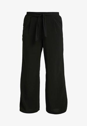 WIDELEG - Spodnie materiałowe - black