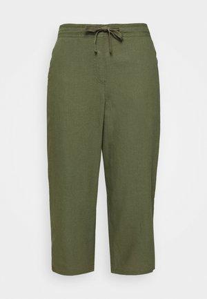 BLEND CROPPED TROUSER - Kalhoty - khaki