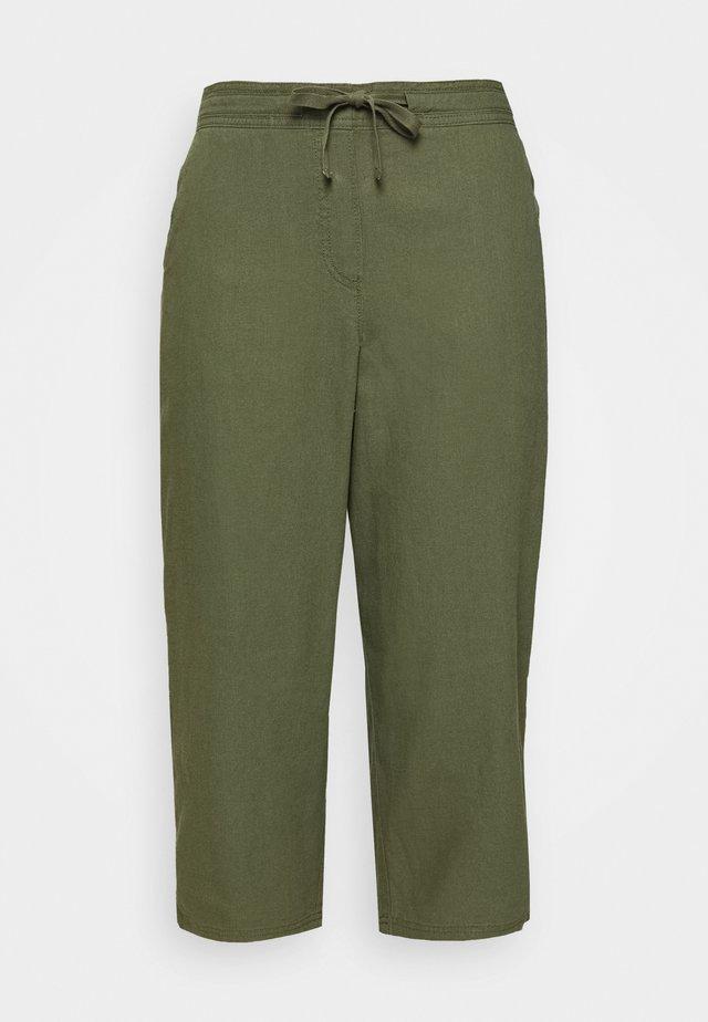 BLEND CROPPED TROUSER - Pantaloni - khaki